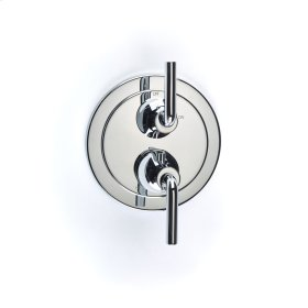 Dual Control Thermostatic with Volume Control Valve Trim River (series 17) Polished Chrome