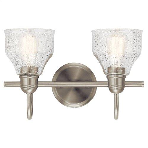 Avery 2 Light Vanity Light Brushed Nickel