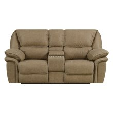 Emerald Home Allyn Motion Loveseat Desert Sand U7127-01-15