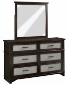 Dresser \u0026 Mirror - Chocolate/Champagne Finish Product Image