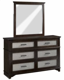 Dresser \u0026 Mirror - Chocolate/Champagne Finish