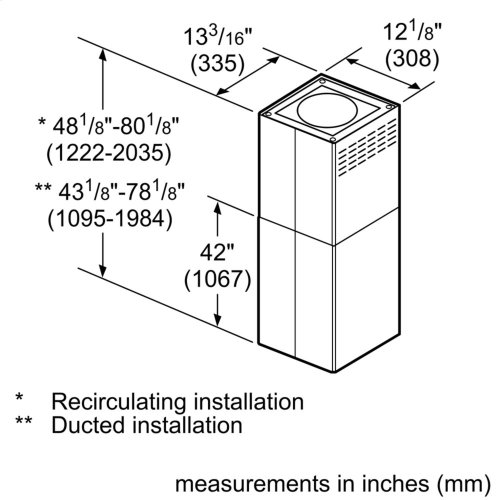 Chimney Extension for Island Hood