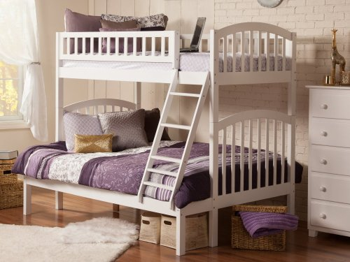 Richland Bunk Bed Twin over Full in White