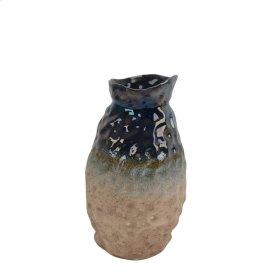 """Ceramic Vase, 12.5"""", Multicolor"""