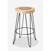 Fiona Barstool in Iron Legs MOQ 2 (14.5x14.5x29) (package: 2pcs/box) price is per piece