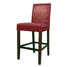 Hartford Bonded Leather Counter Stool, Red