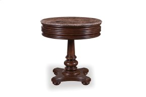 Whiskey Oak Round Lamp Table
