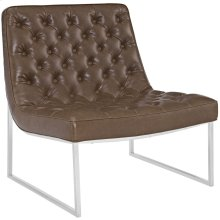Ibiza Upholstered Vinyl Lounge Chair in Brown