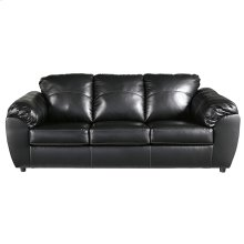 Benchcraft Fezzman Sofa in Black Leather [FSD-6529SO-BLK-GG]