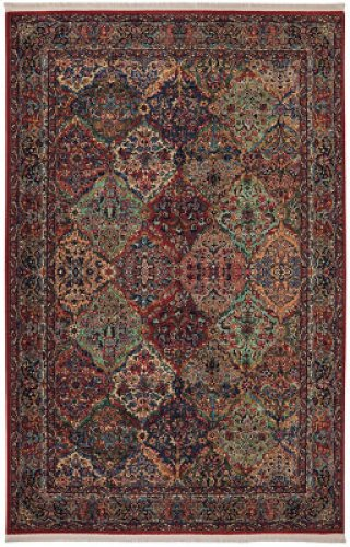 Multicolor Panel Kirman Multi Rectangle 5ft 9in X 9ft
