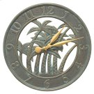 "18"" Palm Wall Clock Indoor Outdoor - Bronze Verdigris Product Image"