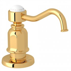 English Gold Perrin & Rowe Traditional Deck Mount Soap Dispenser