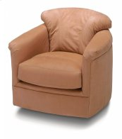 Lombard Leather Swivel Glider