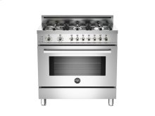 36 6-Burner, Electric Self-Clean Oven Stainless