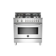 FLOOR MODEL 36 6-Burner, Electric Self-Clean Oven Stainless