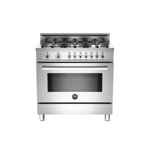 Bertazzoni36 6-Burner, Electric Self-Clean Oven Stainless