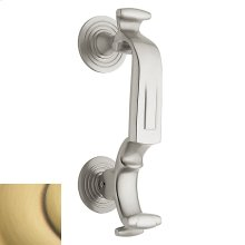 """Satin Brass and Brown """"S"""" Knocker"""