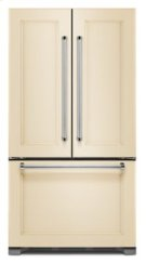 22 cu. ft. 36-Inch Width Counter Depth Panel Ready with Interior Dispense French Door Refrigerator Product Image