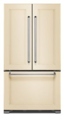 SCRATCH & DENT- 22 cu. ft. 36-Inch Width Counter Depth Panel Ready with Interior Dispense French Door Refrigerator in Black