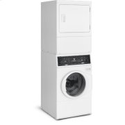 White Stacked Washer/Dryer: SF7 (Gas) Product Image