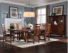 Oak Park Trestle Table with Two Leaves