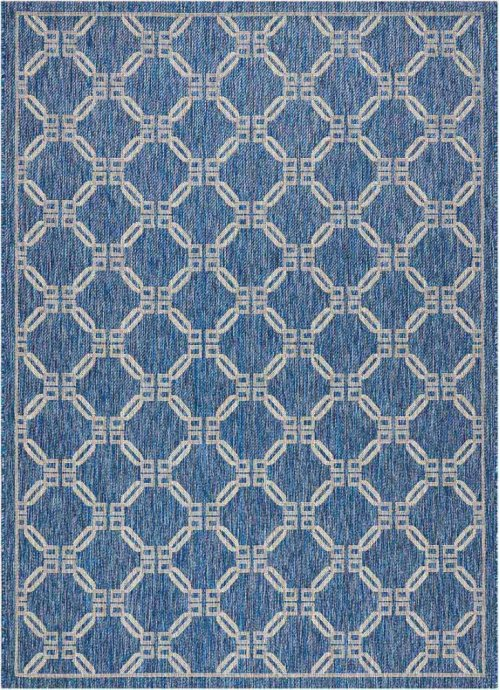 Country Side Ctr02 Denim Rectangle Rug 5'3'' X 7'3''