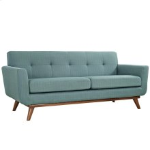 Engage Upholstered Fabric Loveseat in Laguna