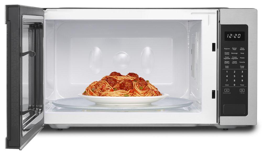 Whirlpool 2 Cu Ft Countertop Microwave With 1 200 Watt Cooking
