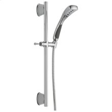 Chrome H2Okinetic ® Single-Setting Slide Bar Hand Shower
