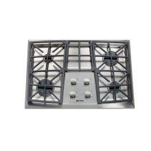 "Stainless Steel 30"" Gas 4 - Burner Front Control"