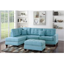 Reversible Chaise Sectional with Ottoman Included