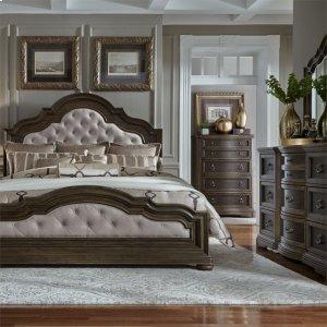Liberty Furniture Industries Queen Uph Bed, Dresser & Mirror, Ns
