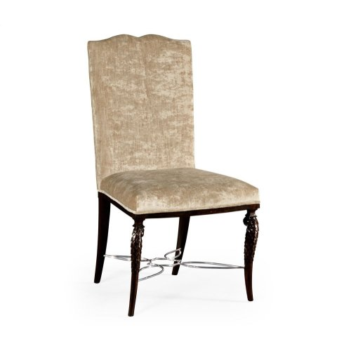 Icarus Dining Side Chair, Upholstered in Calico Velvet