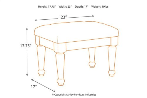Upholstered Stool (1/CN)