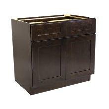 Brookings Unassembled Shaker Base Kitchen Cabinet 36x34.5x24, Espresso #561993