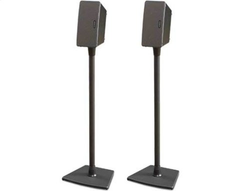 Black Wireless Speaker Stands for Sonos PLAY:1 and PLAY:3 - Pair