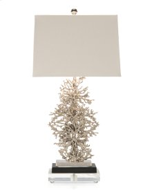 Silver-Plated Coral Lamp