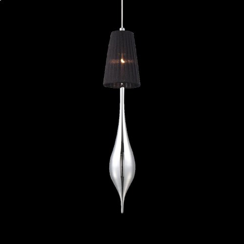 1-LIGHT MEDIUM PENDANT - Chrome