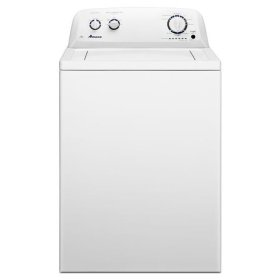 White Amana® 3.5 cu. ft. High-Efficiency Top-Load Washer with White Porcelain Tub