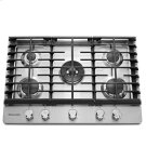 """KitchenAid® 30"""" 5-Burner Gas Cooktop - Stainless Steel Product Image"""