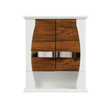 Natasha Collection Black Limba White Gloss Wall Cabinet