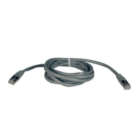 Cat5e 350MHz Molded Shielded Patch Cable STP (RJ45 M/M) - Gray, 50-ft.