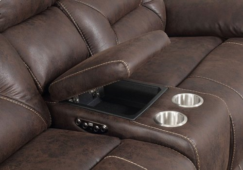 """Aria Right Arm LS w/Console & 2 Pwr-Pwr Recliner,75""""x44""""x42.5"""""""