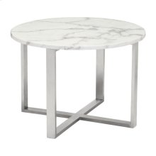 Globe End Table Stone & Ss