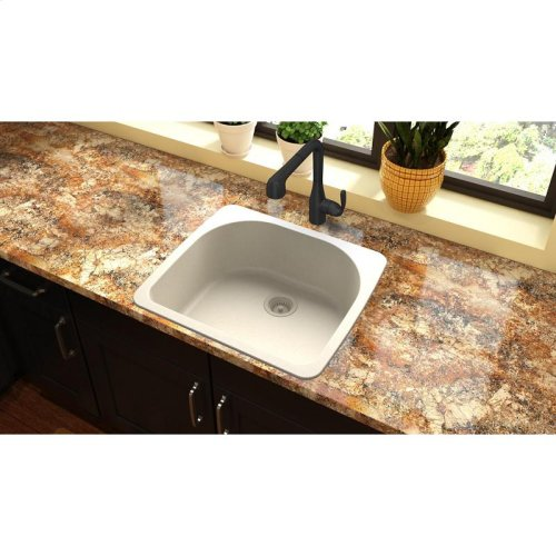 "Elkay Quartz Classic 25"" x 22"" x 8-1/2"", Single Bowl Drop-in Sink, Bisque"
