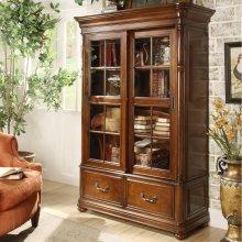 Bristol Court - Sliding Door Bookcase - Cognac Cherry Finish