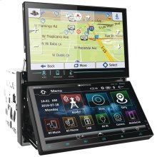 """Dual-7"""" Motorized-Display Double-DIN In-Dash AptiX Navigation DVD Receiver with Bluetooth®"""
