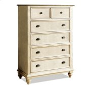 Coventry Five Drawer Chest Weathered Driftwood/Dover White finish Product Image