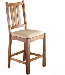 Mission Slat Counter Chair w/ Fabric Seat