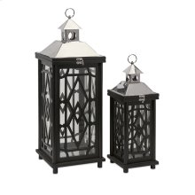 Arlington Wood Lanterns - Set of 2